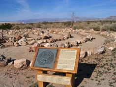 Desert labyrinth at the Maturango Museum in Ridgecrest, CA. I have walked this many times.