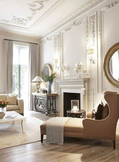 The Beauty of Neutrals // Victorian Interior with rustic equestrian furniture