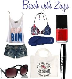casual sporty beach outfit