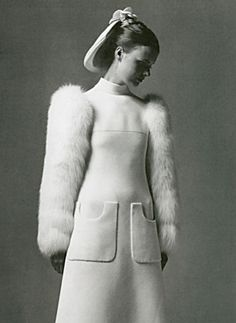 Pierre Cardin wedding dress 1960s