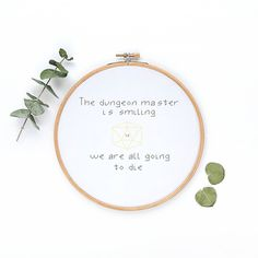 Nerdy, Dungeons and Dragons Cross Stitch,Embroidery, DIY kit, embroidery kit , beginner, cross stitch kit, hoop art, modern cross stitch