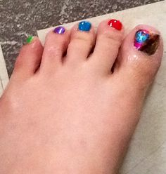 Rainbow toes for summer