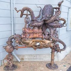 Steampunk water fountain
