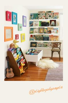 Are you tired of seeing books scattered all over the house? Then you are going to be inspired by this post, where we are going to talk about brilliant book storage and organization ideas for kids books. So regardless of the limited space available in the baby's nursery room, the playroom or in the kids bedroom, you can find clever book storage ideas here that works for you. Book Storage, Storage Shelves, Nursery Book, Bookshelves Kids, Shelves In Bedroom, Kids Bedroom, Playroom, Organization Ideas, Storage Ideas