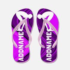 Purple Swimmer Flip Flops Delight your awesome swimmer with our fantastic Swimmer flipflops. http://www.cafepress.com/sportsstar/10189560 #GirlSwimmer #SwimGirl #Lovetoswim #Swimteam