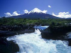 Scenic Salto del Petrohue Osorno Volcano Chile