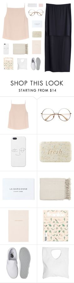 """""""YOUR HEART IS ALL I OWN ♡"""" by thenewgirl3 on Polyvore featuring MTWTFSS Weekday, T By Alexander Wang, Fresh, Surya, Kate Spade, Vans and Jennifer Haley"""