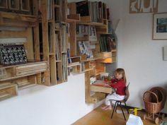 Pallet Projeto holandês em móveis de paletes