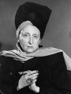 """Edith Sitwell:  """"The trouble with most Englishwomen is that they will dress as if they had been a mouse in a previous incarnation - they do not want to attract attention."""""""
