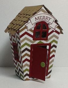 Love this little Christmas house Stampin' Up! bundle & save home sweet home