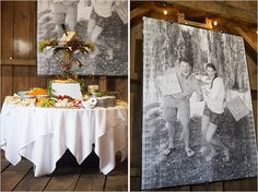 Mr. And Mrs. Photo enlarged - so dramatic in the barn.
