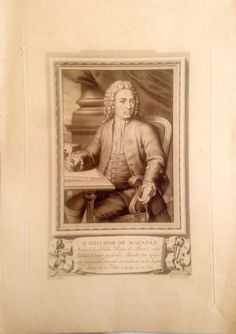 Detalles de  MURCIA. HELLÍN. RETRATO DE D. MELCHOR DE MACANÁZ. Grabado original 1791-1819,