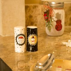 Snow Pals by Amylee Weeks Salt Pepper Shakers, Snowmen, Christmas Themes, Kitchenware, Ceramics, Holiday, Pattern, Salt Shakers, Snow