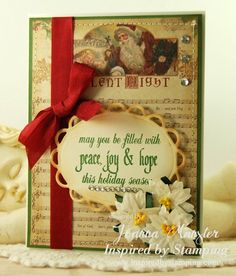 Inspired by Stamping, Joanna Munster, Christmas Greetings stamp set, Christmas card