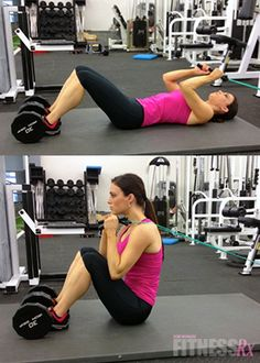 Resistance Band Sit-ups. Amping up a basic exercise!