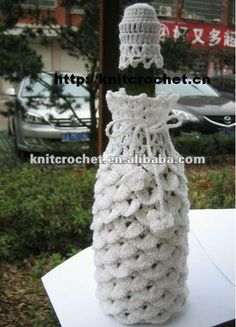 Hand Crocheted Wine Bottle Hat & Cover - *Inspiration*
