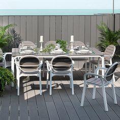 Salon de jardin bas FURLANO GreenPath 5 places résine tressée ...