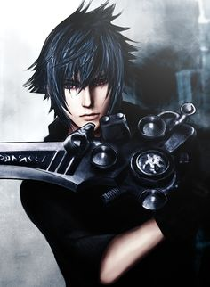 No larger size available Noctis Final Fantasy, Final Fantasy Art, Fantasy Series, Video Game Genres, Noctis Lucis Caelum, Third Person Shooter, Tifa Lockhart, Handsome Anime, Finals