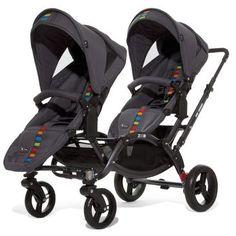 ABC-Design Zoom Twin Tandem Pram. The ABC-Design Zoom Twin Tandem Pram is only 63cm's  wide, making it as narrow as a single stroller.