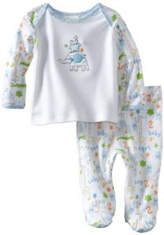ABSORBA Baby-Boys Newborn Two Piece Footed Pant Set, White/Print, 0-3 Months ABSORBA,http://www.amazon.com/dp/B007SU3GC4/ref=cm_sw_r_pi_dp_LoPqrb1TYEZBM7DE