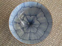 有田焼のご飯茶碗 外呉須花形十草飯碗