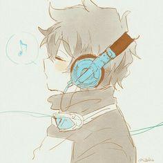 Imagination World : Helper of Sound Goddess [Music] Art Manga, Manga Boy, Cute Anime Boy, Anime Boys, Anime Style, Kawaii Anime, Fan Art Anime, Estilo Anime, Animes Wallpapers