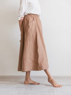 Items similar to Ready to ship / Long midi swingy linen skirt, Elasticated waistband linen skirt, Midi skirt on Etsy : Skirt Outfits, Dress Skirt, Midi Skirt, Flared Skirt, Denim Skirt, Linen Skirt, Linen Dresses, Loose Fitting Tops, Business Casual Outfits