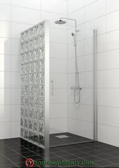65 Most Popular Small Bathroom Remodel Ideas on a Budget in 2018 This beautiful look was created with cool colors, and a change of layout. Small Bathroom With Shower, Glass Bathroom, Bathroom Toilets, Bathroom Design Small, Bathroom Interior Design, Modern Bathroom, Kitchen Interior, Bad Inspiration, Bathroom Inspiration