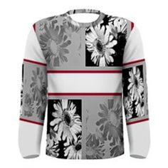 Le Closet #5 Mens Deviant Floral Black Gray White Red Long Sleeve Stre – ABBY ESSIE