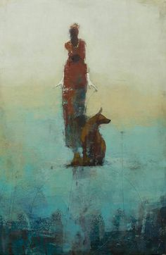 """""""Weight of Balance, Surveyors"""", oil on board - Cathy Hegman"""