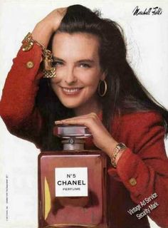 Chanel No.5 Perfume Nice Marshall Field Color (1987). Featuring Carole Bouquet.