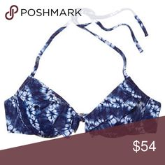 Flounce Tease Halter Ink blot tie dye. Also have matching Bottoms in my closet. Victoria's Secret Swim Bikinis