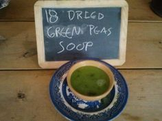 No 18 Dried green peas soup, a lovely soup, with lots of fresh lettuce and spinach.