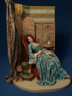 Gale Elena Bantock by abantock (it-love this miniature vignette .. just beautiful!)