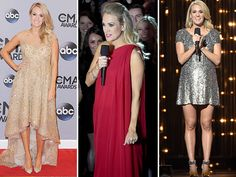 Sparkling gowns, hot pants, tutus: The CMA Awards host has worn it all over the past 11 years Carrie Underwood Cma, Beaded Fringe Dress, Cma Awards, Red Carpet Dresses, Hot Pants, Badgley Mischka, Ball Gowns, Dress Up, Couture