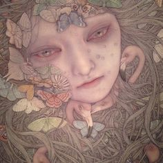 Otherworldly Mixed Media Works by Japanese Artist Atsuko Goto | Hi-Fructose Magazine