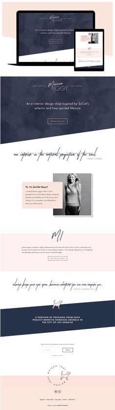 Maison Iggy Squarespace Website Design by Big Cat Creative