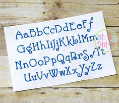 Nick Embroidery Font