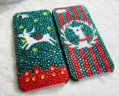 Lol so cute... Christmas iPhone Case Deer iPhone by BlingRhinestoneCase on Etsy