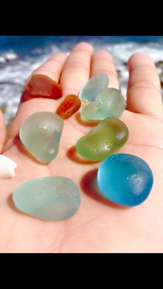 Lovely sea glass finds.