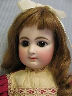 "18"" Antique French ""R 1 D"" Rabery Delphieu Doll c1880 Closed Mouth Bisque BEBE 