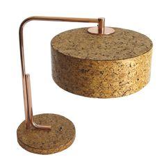 Kurt Versen - Cork and Copper American Art Deco Table Lamp