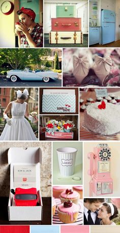 This retro wedding inspiration board hurts me.