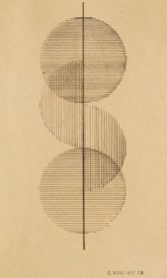 By Erich Borchert (1907-1944), 1928, Sowjetunion Geometrische Komposition, pen and India ink drawing. (Bauhaus)