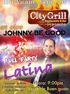 Nos fuimos@este@viernes a disfrutar de una buena Party en City Grill 9:00pm #todosinvitados#weepppaa   Musica a cargo de @johnnybegoodhn & la banda en@vivo fuimonos#