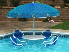 pool party set-great for the shallow end of the pool on those blazing hot August days