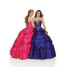 Ball Gown Strapless Sleeveless Sweep Train Floor Length Taffeta Beading Prom Dress