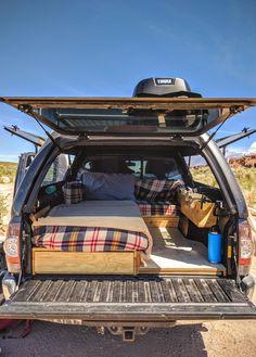 Truck Cap Camping, Pickup Camping, Minivan Camping, Jeep Camping, Camping Life, Cabover Camper, Suv Camper, Build A Camper Van, Truck Bed Camper