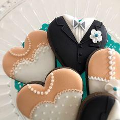 ワカナ's dish photo ウェディング アイシングクッキー   http://snapdish.co #SnapDish #クッキー #おやつ…