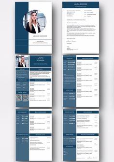 Das Design in Saphire-Optik ist aufgeräumt und klar strukturiert. Die QR-Codes führen den Personaler direkt auf das XING und LinkedIn Profil des Bewerbers. So sehen perfekte Bewerbungen heutzutage aus. Das Bewerber Kurzprofil und das moderne Bewerbungsfoto in einer Büroumgebung machen diese Bewerbung zu einem Highlight. Eine Schritt für Schritt Videoanleitung damit die Bewerbung perfekt aussieht ist auch enthalten. CV Lebenslaufvorlage und Bewerbungsvorlage in deutsch als Download. Cv Template, Profile Design, Qr Codes, Resume, English, Cover, Deutsch, Templates, Business
